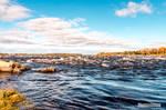 The Rapids at Kukkolaforsen, Sweden