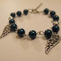 Bracelet Blue Wings by Mnem0syne-chan