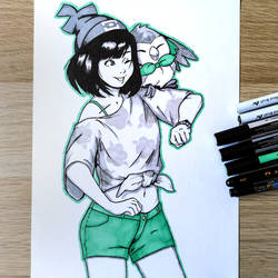 Pokemon Trainer - Selene (and Rowlet!) by Ranveld