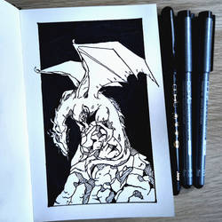 Old dragon (Inktober 2018) by Ranveld