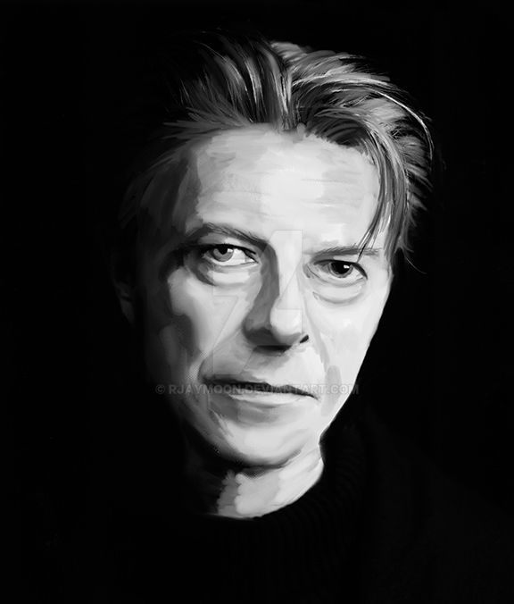 David Bowie - digital painting by RJayMoon