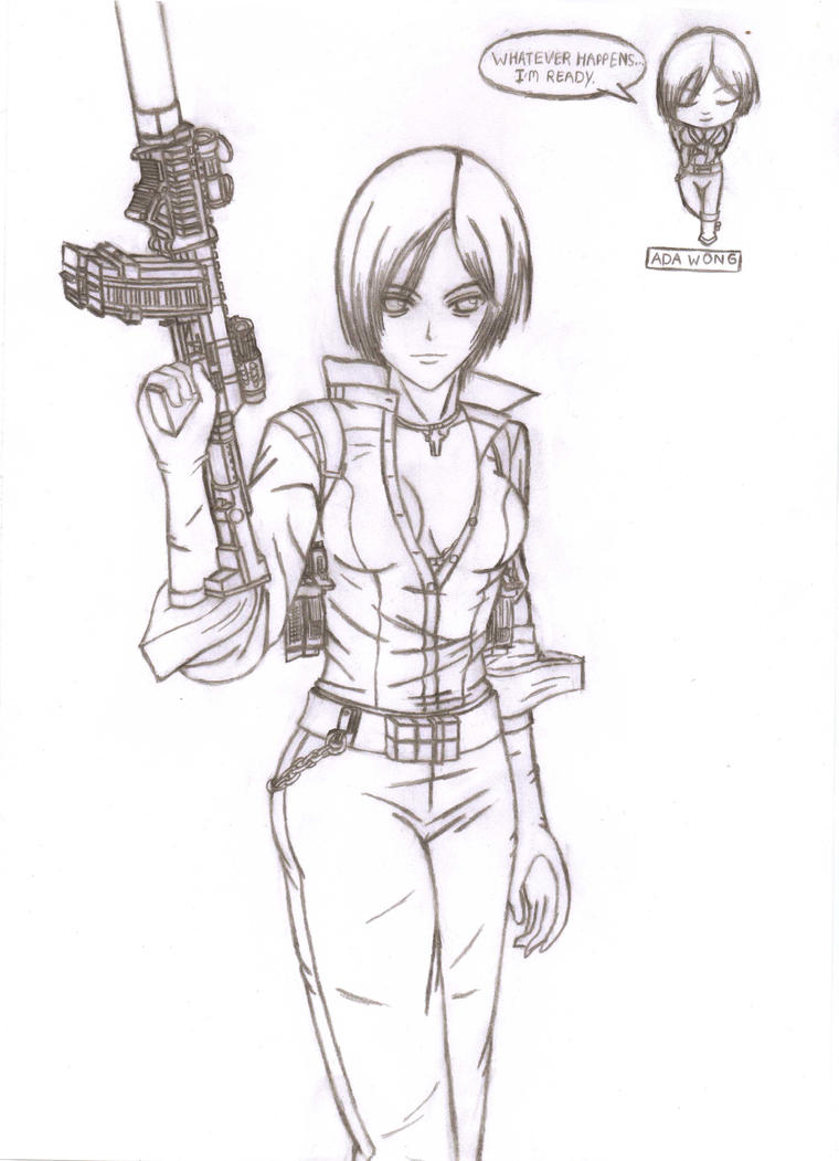 ada wong coloring pages - photo#16