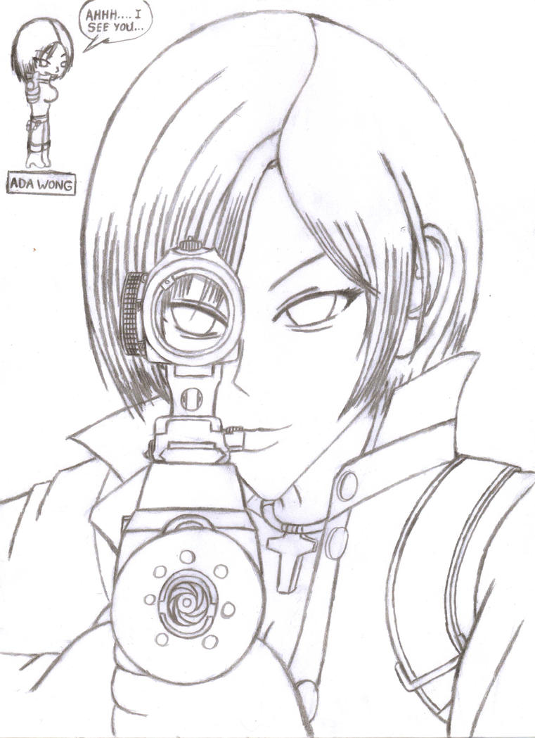 ada wong coloring pages - photo#15