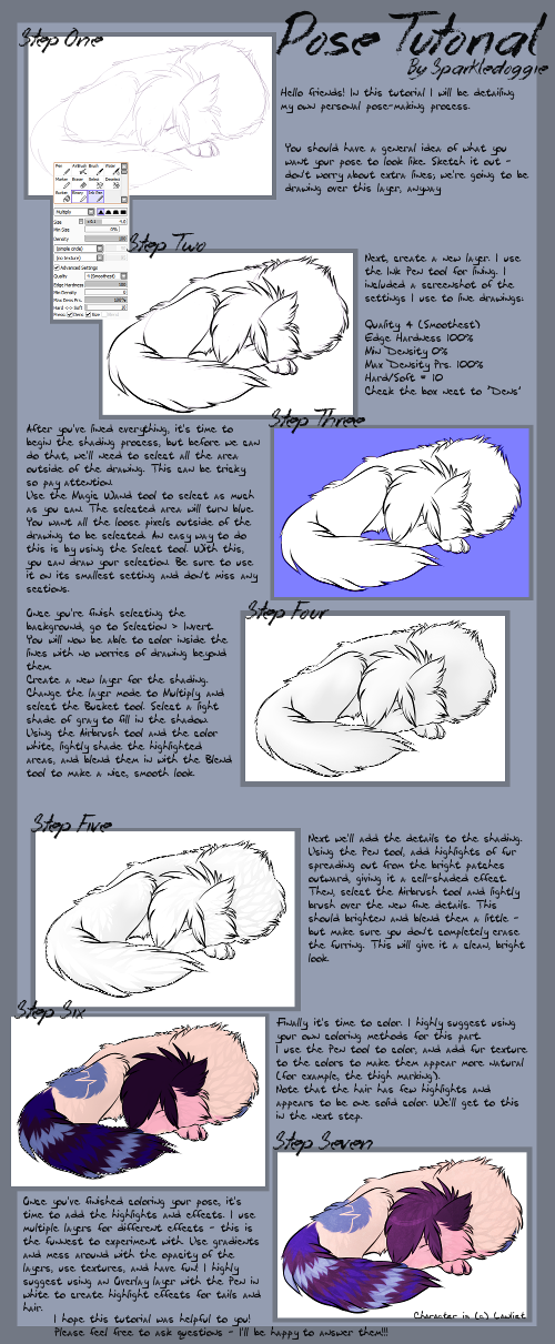 Full Pose Tutorial by Sparkledoggie