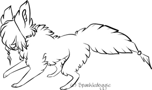 F2U Bead Canine Base by Sparkledoggie