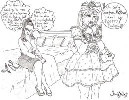 Lady Sissy 2 - Shaded by Jenniandrews