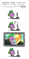 spike finds out