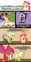 Apple Bloom and Juicy
