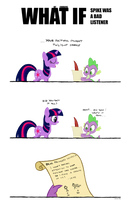 WHAT IF: Spike was a bad listener by chibi95