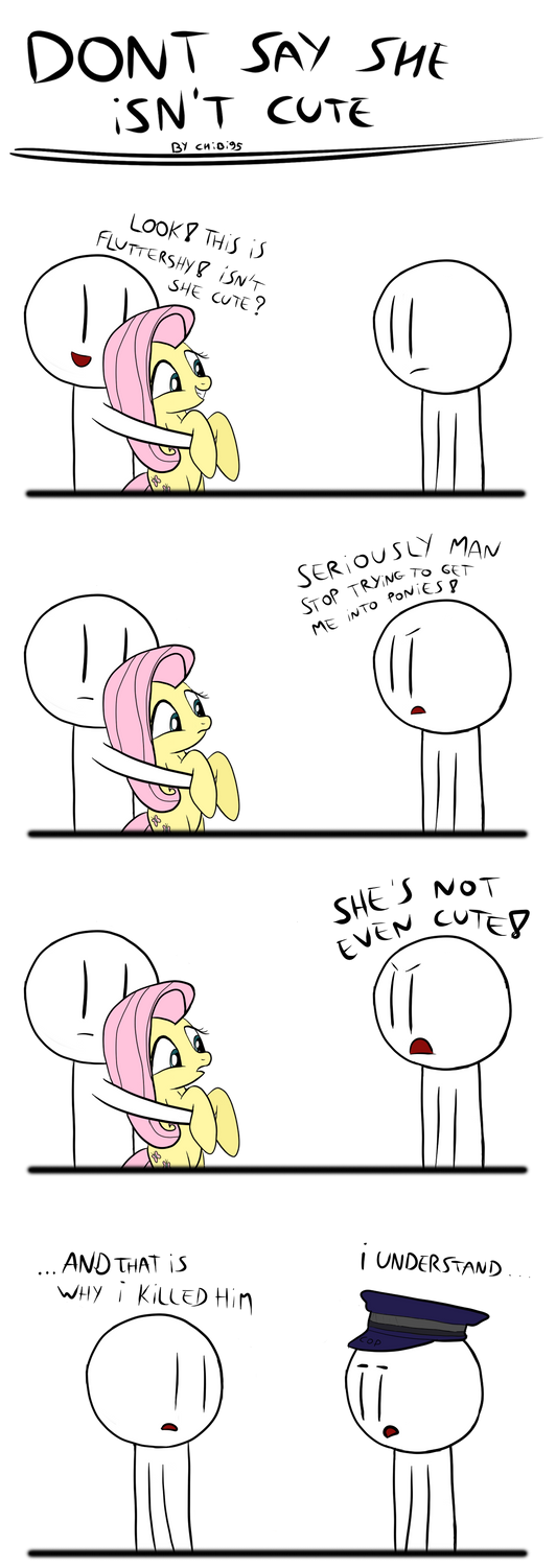 never say Fluttershy isn't cute by chibi95