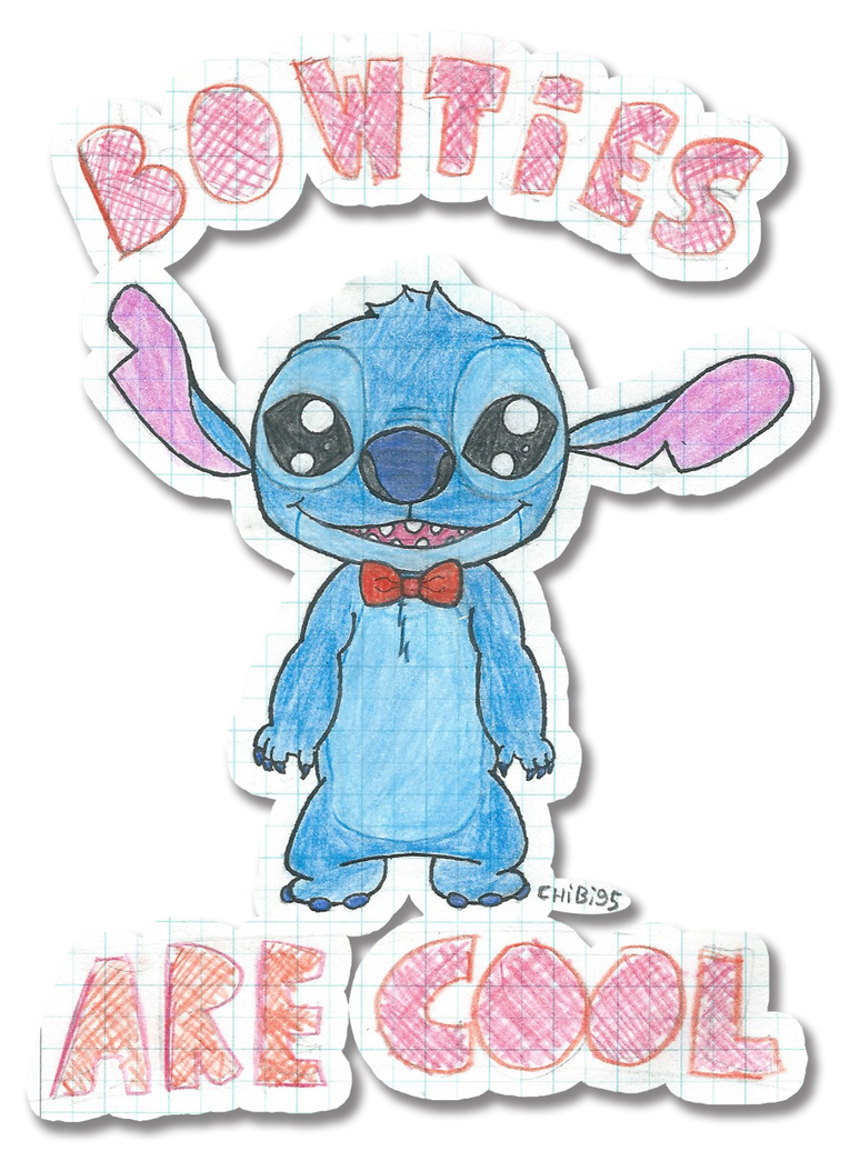Stitch - Bow ties Are Cool (scanned) by chibi95