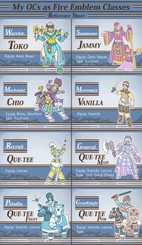 My OCs as Fire Emblem Units - Reference Sheet