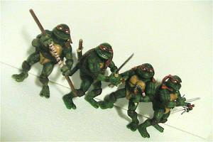 1984 Custom TMNT figures by DaveSchultz