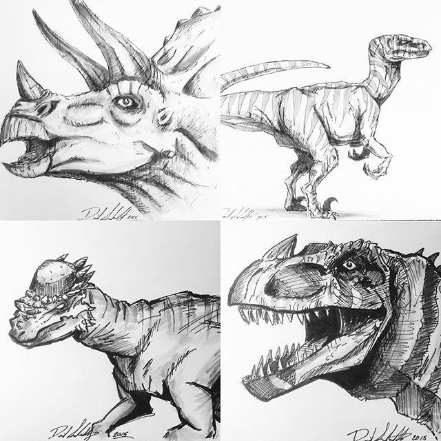 Dinosaur Skecthes by DaveSchultz