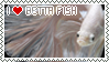 I Love Betta Fish Stamp by KingKatze