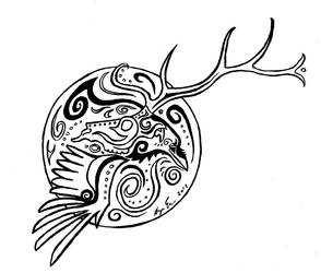 Raven and Elk
