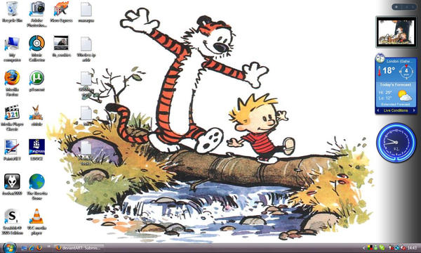 Calvin And Hobbes Wallpaper.