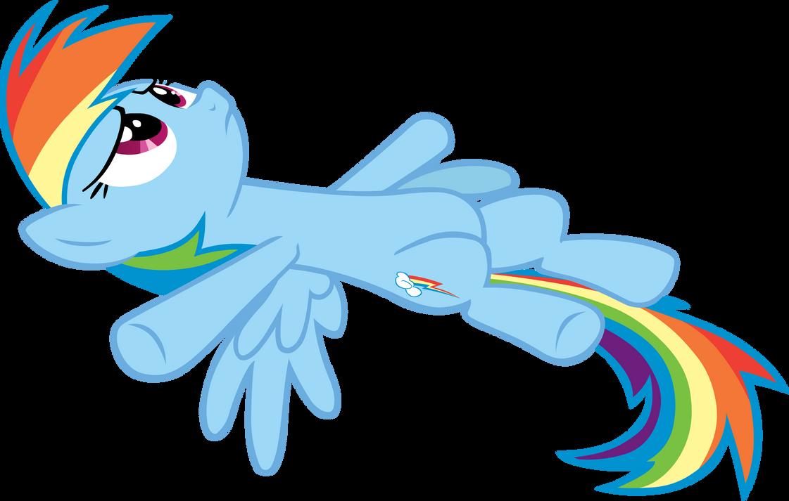 Rainbow Dash Lying Vector by Rainbow Dash Mlp Vector