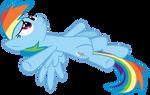 Rainbow Dash Lying Vector