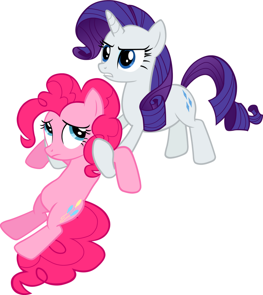 Pinkie pie and rarity vector by scrimpeh