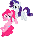 Pinkie Pie and Rarity Vector