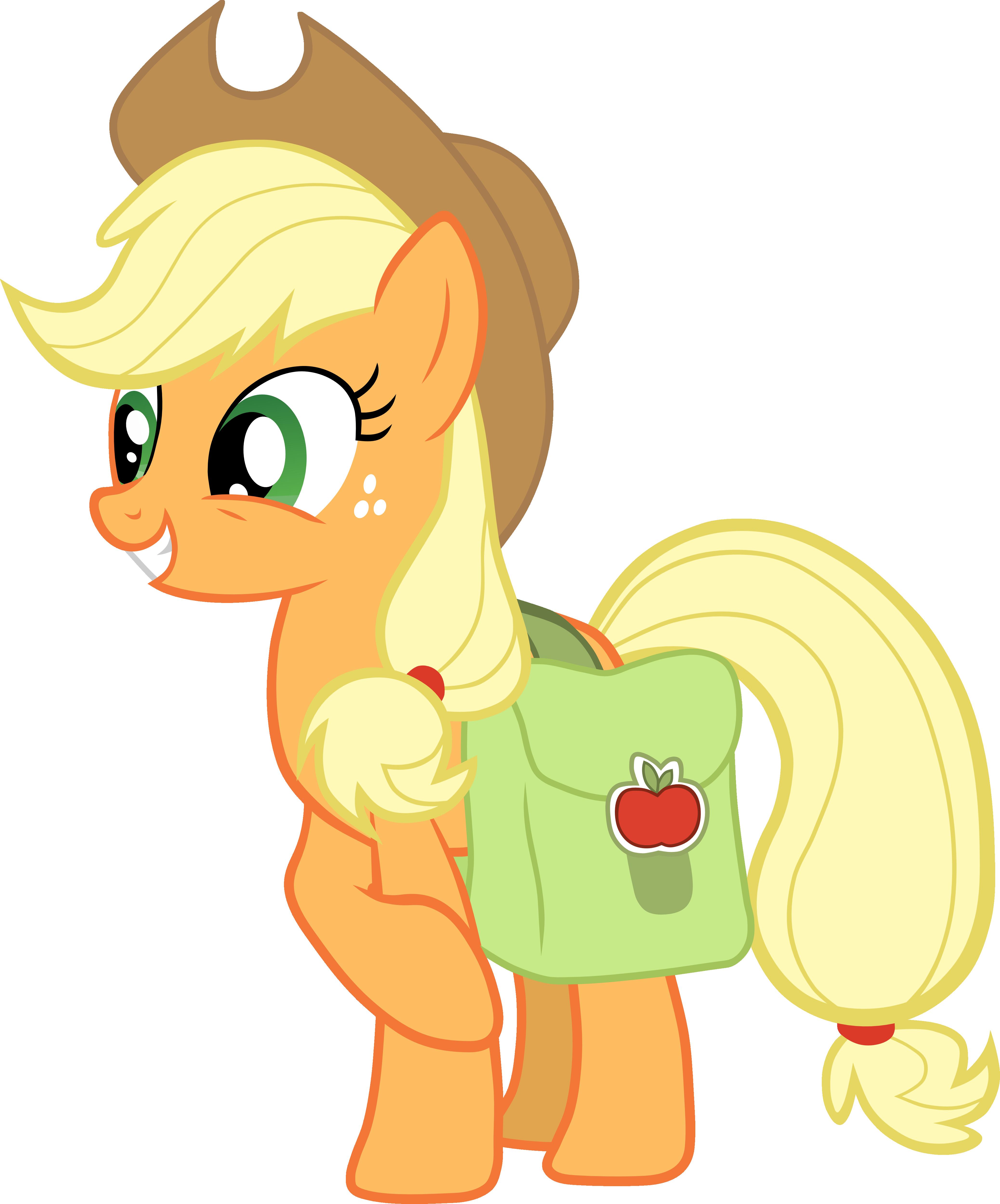 Applejack with Saddlebag Vector
