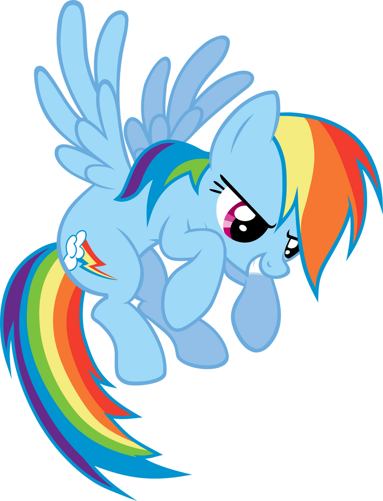 Rainbow Dash Flying Vector by scrimpeh