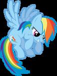 Rainbow Dash Flying Vector