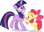 Apple Bloom begging Twilight Vector