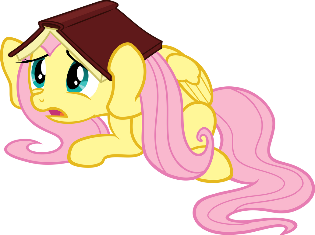 Frightened Fluttershy Vector by scrimpeh on DeviantArt