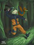 Duck Hunt + Naruto by FinnPants