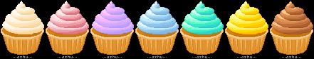 vanilla pixel cupcakes