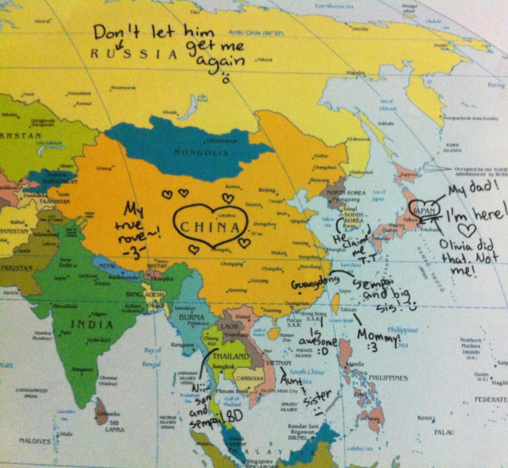 Tokyos Map of Asia by luckydogfangirl01 on DeviantArt