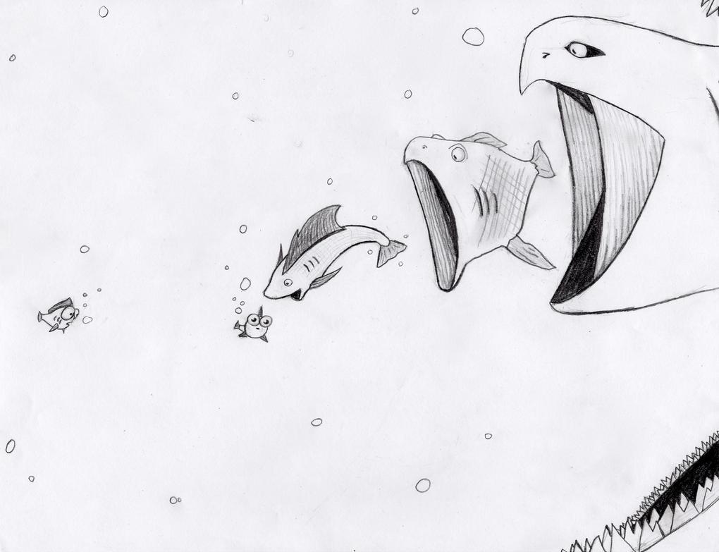 Big fish eats small fish by o0starrieskye0o on deviantart for Big fish eat small fish