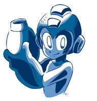Mega Man doodle by NkoGnZ