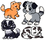 Doggie Adopts OPEN 2/4 by xCaramelCookiex