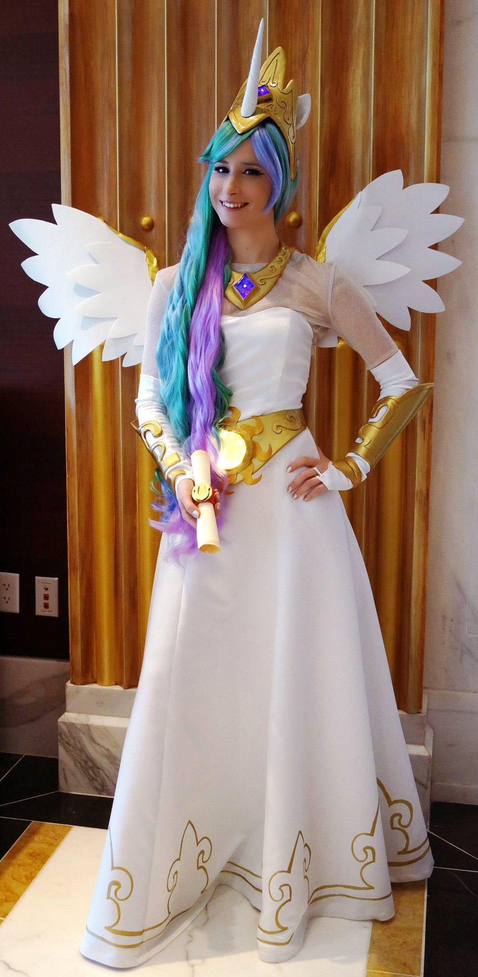 Princess Celestia at Katsucon 19 by littlekiddens
