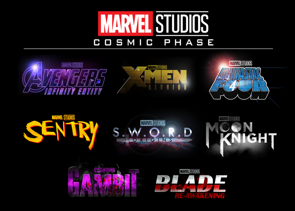 Mcu Phase 4 Logos By Thekosmickollector On Deviantart