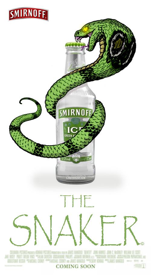 The Snaker/Smirnoff Ice Green Apple Bite by TRGART