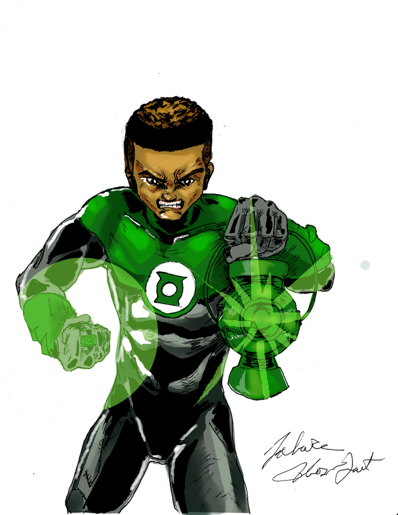 Green Lantern 2 in color by 1fobas on DeviantArt