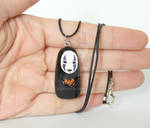 No Face Polymer Clay Necklace