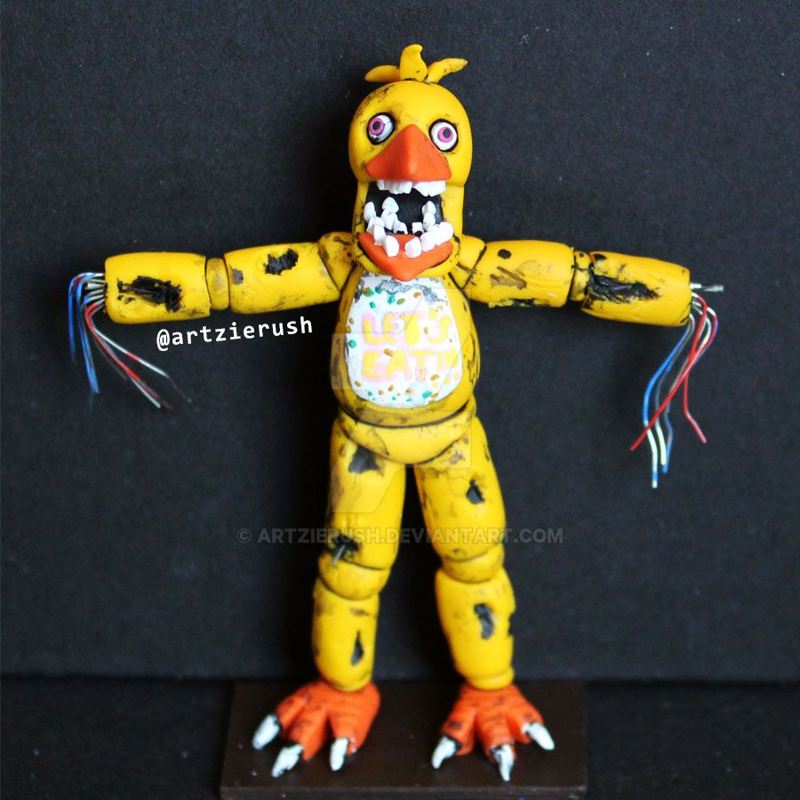 Withered Chica From Fnaf By Artzierush On Deviantart