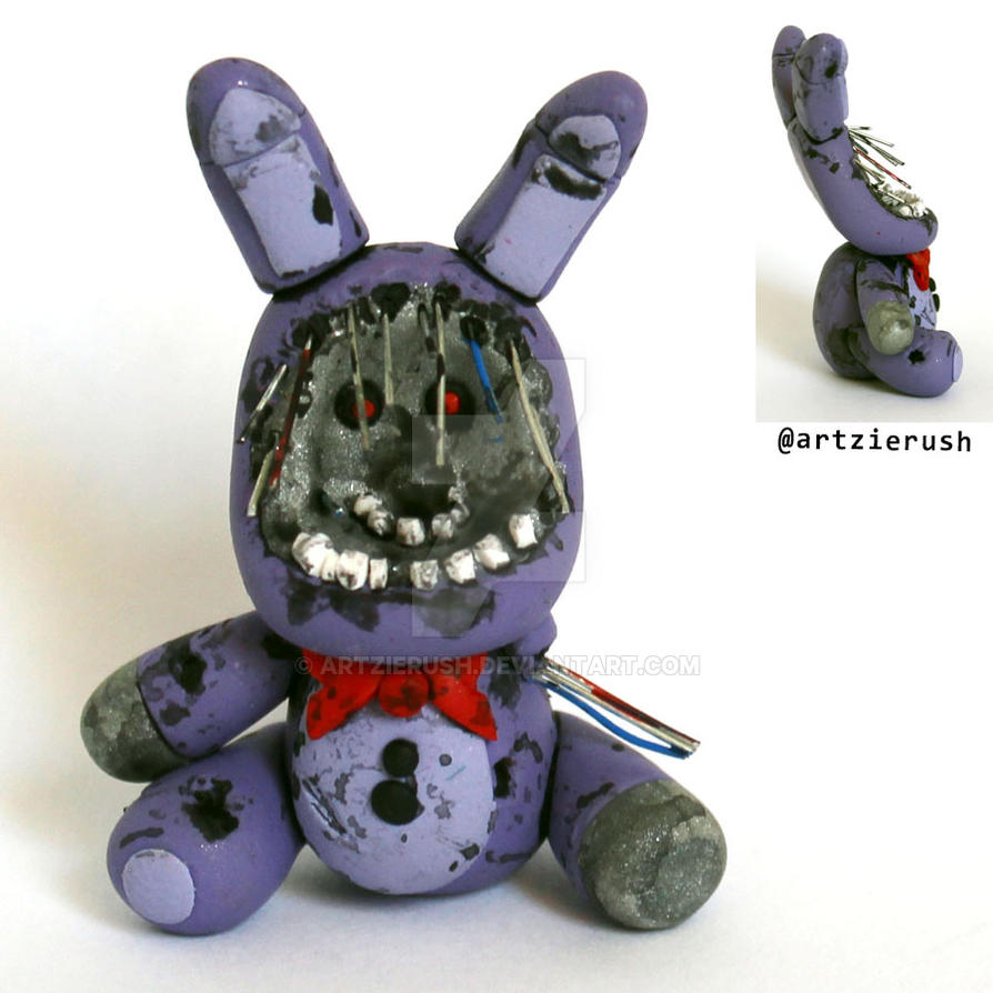 Withered bonnie in plushy version by artzierush