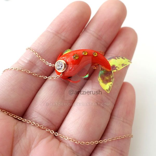 Abundance Red Fish Necklace by ArtzieRush