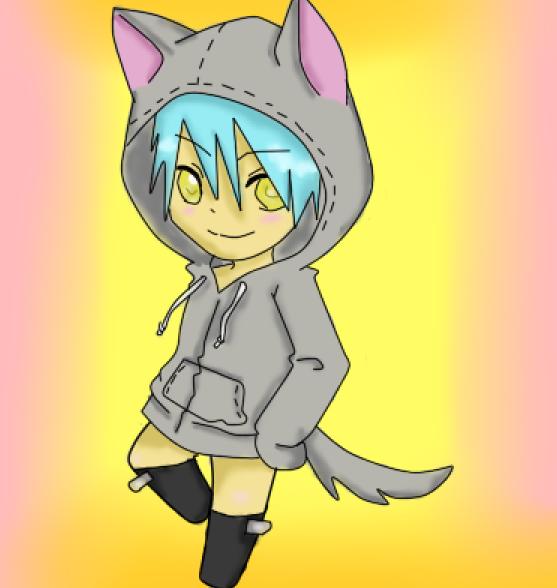 Anime Wolf Boy Chibi Chibi Wolf Boy by Sparky Sama1
