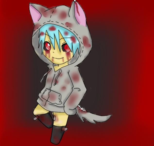 Chibi Wolf Boy (Bloodie Ver) By Sparky-Sama1 On DeviantART