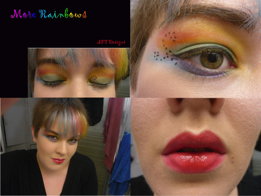 More Rainbow Makeup by cutiepie19932