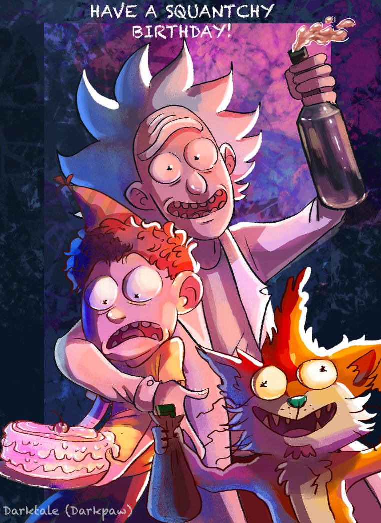 Rick and Morty (Happy Birthday!) by Darkpaw2001