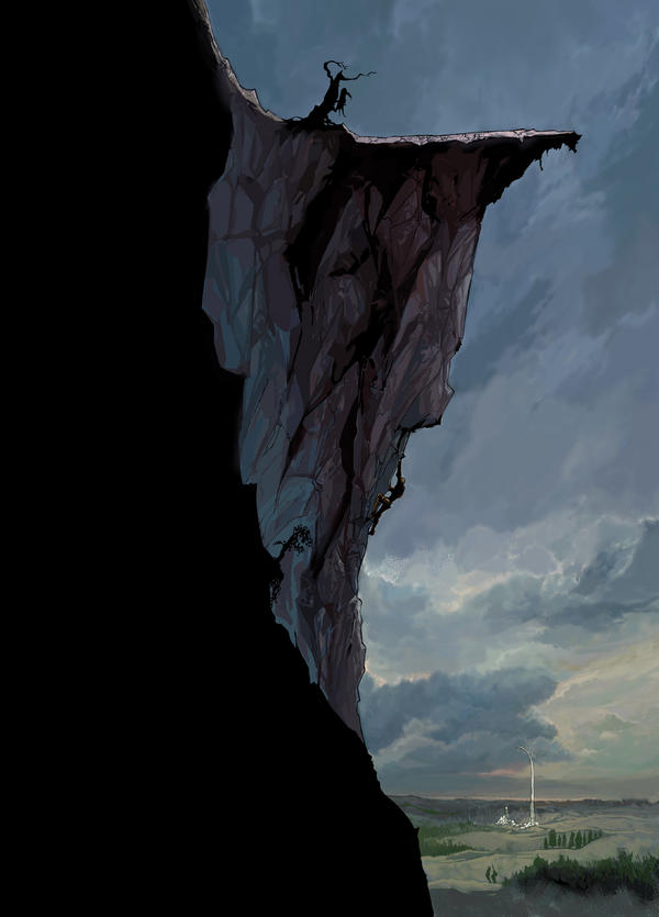 Cliff Face in Eathaar by DevaShard