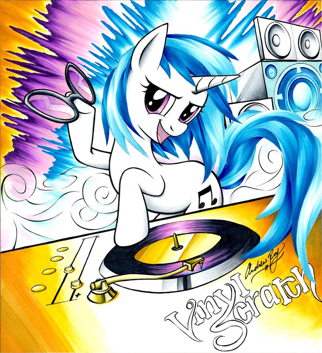 Vinyl Scratch-splosion by Muffyn-Man